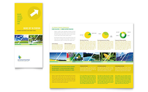 Environmental Conservation Tri Fold Brochure Template - Microsoft Office