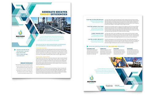 Oil & Gas Company Datasheet - Microsoft Office Template