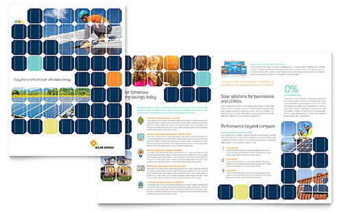 Solar Energy Brochure - Microsoft Office Template