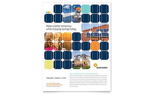 Solar Energy Flyer - Microsoft Office Template