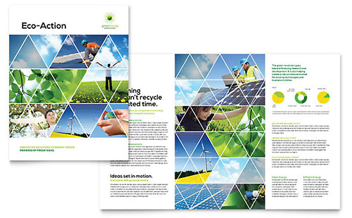 Green Energy Consultant - Sample Pamphlet Template - Word & Publisher