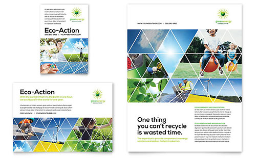 Green Energy Consultant Flyer & Ad - Microsoft Office Template