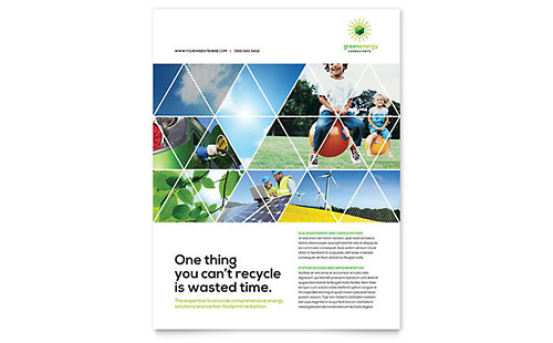 Green Energy Consultant Flyer - Word Template & Publisher Template