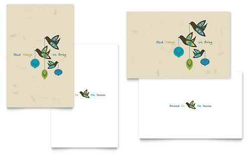 Glad Tidings Greeting Card - Microsoft Office Template