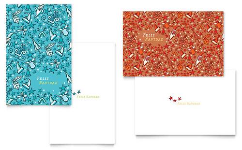 Christmas Confetti Greeting Card - Microsoft Office Template