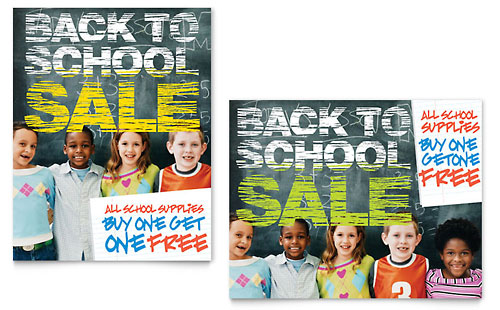 Back to School Sale Poster Template - Microsoft Office