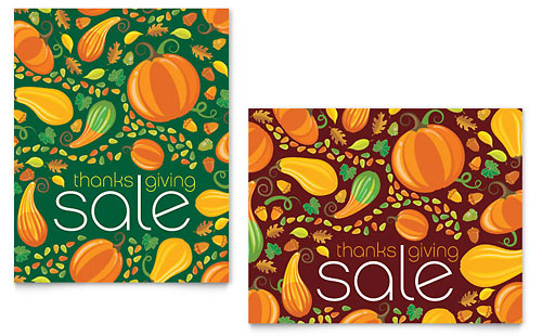 Thanksgiving Harvest Sale Poster - Microsoft Office Template