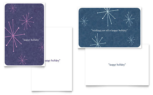 Snowflake Wishes Greeting Card Template - Microsoft Office