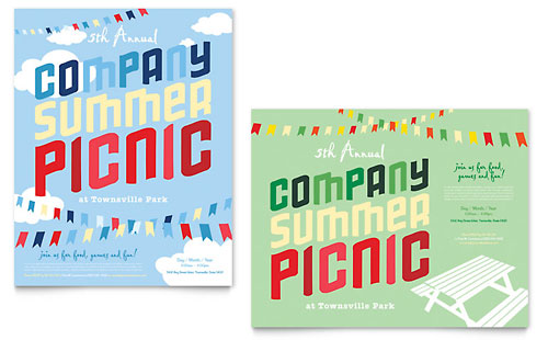 Company Summer Picnic Poster - Microsoft Office Template