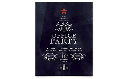 Office Holiday Party Flyer - Microsoft Office Template