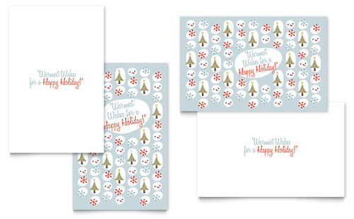 Happy Holidays Greeting Card - Word Template & Publisher Template