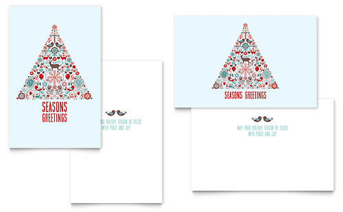 Holiday Art Greeting Card - Microsoft Office Template