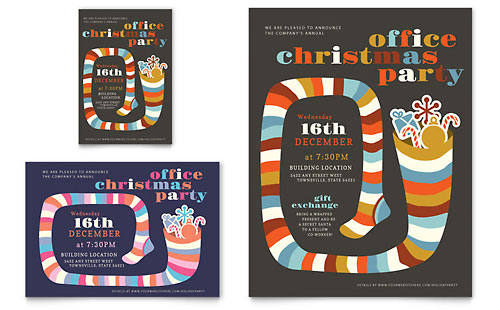 Christmas Party Flyer & Ad - Microsoft Office Template