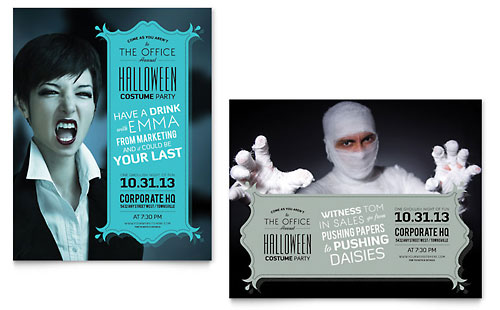 Halloween Costume Party Poster - Microsoft Office Template