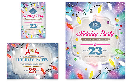 Holiday Party Flyer & Ad - Microsoft Office Template