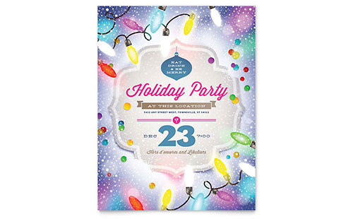Holiday Party Flyer Template - Microsoft Word & Publisher