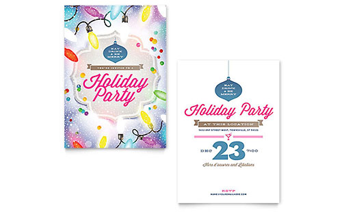 Holiday Party Invitation - Microsoft Office Template