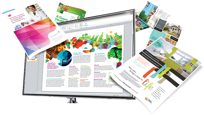 LayoutReady Templates - Microsoft Word, Publisher, PowerPoint. Create Brochures, Flyers, Presentations, Business Cards