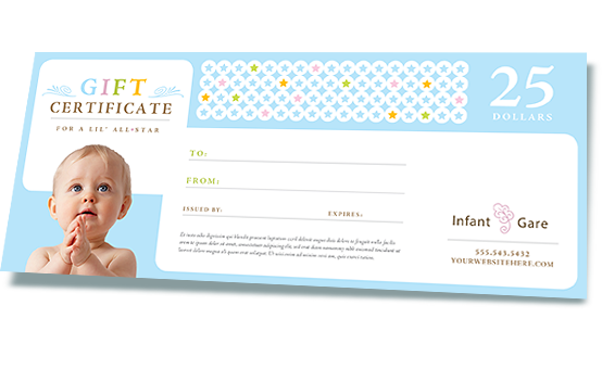 Gift Certificate Created in Microsoft Word