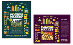Farmers Market Poster - Word Template & Publisher Template