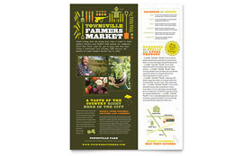 Farmers Market Flyer - Word Template & Publisher Template