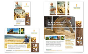Farming & Agriculture Flyer & Ad - Word Template & Publisher Template