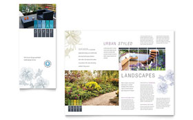 Urban Landscaping Tri Fold Brochure - Word Template & Publisher Template