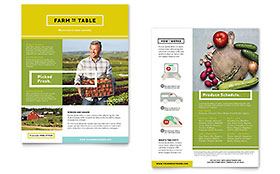 Organic Food Datasheet - Word Template & Publisher Template