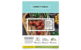 Organic Food Leaflet Template