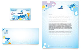 Car Wash Letterhead - Word Template & Publisher Template