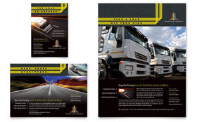 Trucking & Transport Flyer & Ad - Word Template & Publisher Template