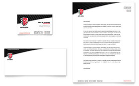 Auto Detailing Business Card & Letterhead - Word Template & Publisher Template
