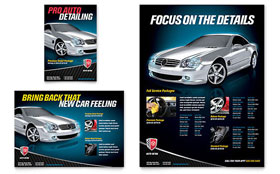 Auto Detailing Flyer & Ad - Word Template & Publisher Template
