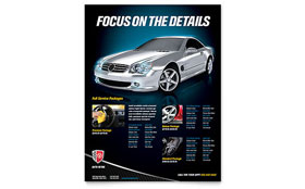 Auto Detailing Flyer - Word Template & Publisher Template