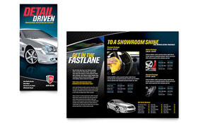 Auto Detailing Tri Fold Brochure - Word Template & Publisher Template