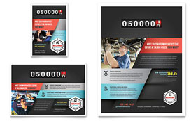 Auto Mechanic Ad - Word Template & Publisher Template