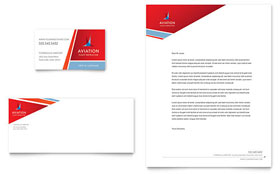 Aviation Flight Instructor Business Card & Letterhead - Microsoft Office Template