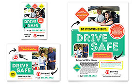 Driving School Ad - Word Template & Publisher Template