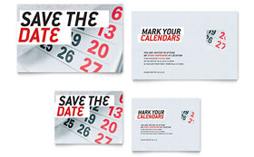 Save The Date Note Card - Word Template & Publisher Template