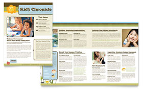 Child Development School Newsletter - Microsoft Office Template