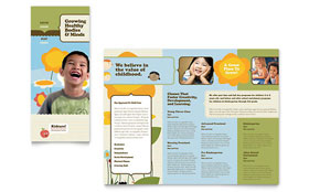Child Development School Tri Fold Brochure - Word Template & Publisher Template
