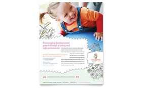 Babysitting & Daycare Flyer - Word & Publisher Template