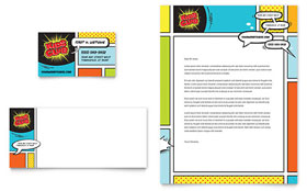 Kids Club Business Card & Letterhead - Microsoft Office Template
