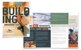 Home Builders & Construction Brochure - Word Template & Publisher Template