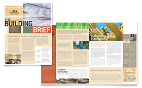 Home Builders & Construction Newsletter - Microsoft Office Template