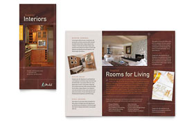 Home Remodeling Tri Fold Brochure - Word Template & Publisher Template