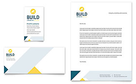 Contractor Business Card & Letterhead - Word & Publisher Template