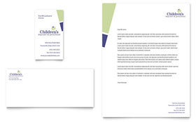 Child Care & Preschool Business Card & Letterhead - Microsoft Office Template