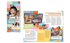 Preschool Kids & Day Care Brochure - Word Template & Publisher Template
