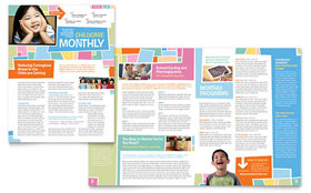Preschool Kids & Day Care Newsletter - Microsoft Office Template